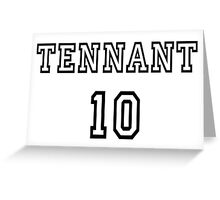 Doctor Who - Tennant 10 Greeting Card