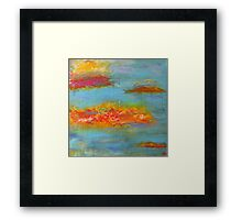 Embankment. 30 x 30. Acrylic Painting. Framed Print