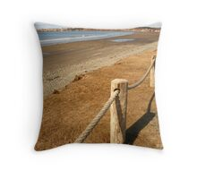 Mavillette Beach - The Brown Season Throw Pillow