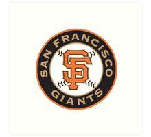 san francisco giants logo Art Print