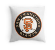san francisco giants logo Throw Pillow