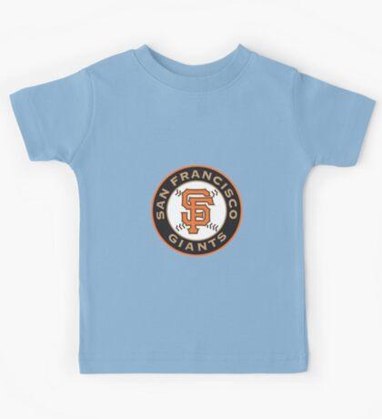 san francisco giants logo Kids Tee