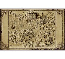 Harry Potter Map Photographic Print