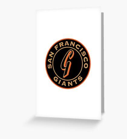 san francisco giants logo 1 Greeting Card