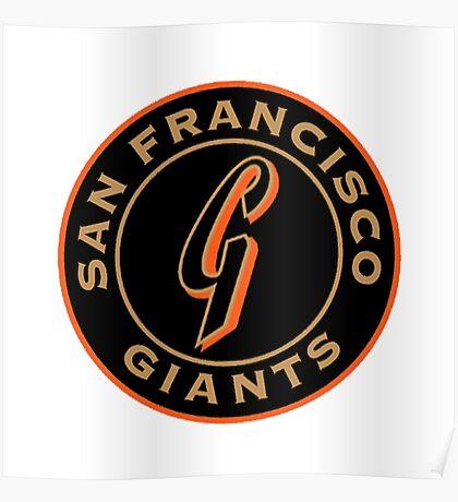 san francisco giants logo 1 Poster