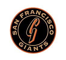san francisco giants logo 1 Photographic Print