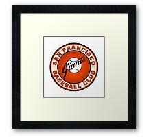 san francisco giants logo 2 Framed Print