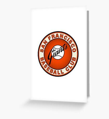 san francisco giants logo 2 Greeting Card