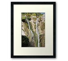 Ronies waterfalls, Lefkada island Framed Print