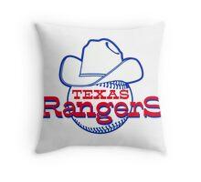 texas rangers logo 1 Throw Pillow