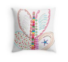 Colorful butterfly with shapes Throw Pillow