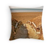 Mavillette Beach - The Brown Season II Throw Pillow