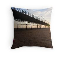 Castle building in the Sand Throw Pillow