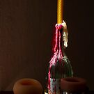 Lighted Candle by Richard G Witham