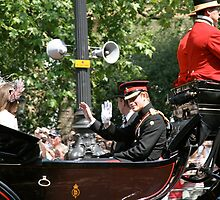 Prince Harry in a Horse drawn carriage by Keith Larby