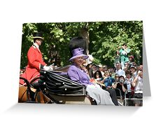 Her Majesty The Queen, Trooping the colour. Greeting Card
