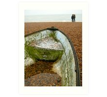 Within And Without: Water And Pebbles - Brighton Art Print