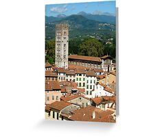 Tuscan Rooftops - Lucca, Toscana Greeting Card