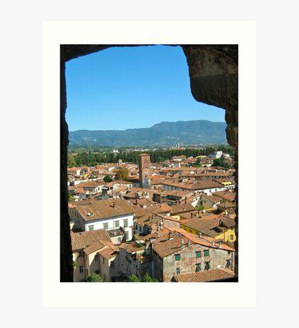 Tuscan Rooftops - Lucca, Toscana v.2 Art Print