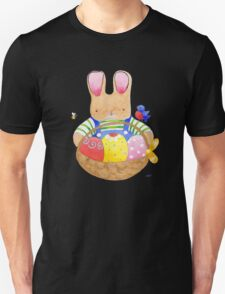 little bunny with his basket Unisex T-Shirt