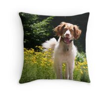 Artemis Smiles Throw Pillow