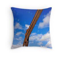 Rust & Blue Throw Pillow
