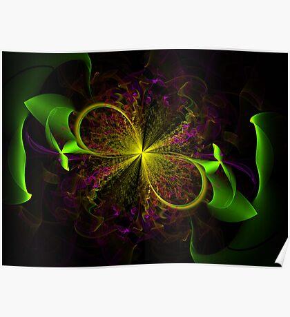 Ribbon Bloom Poster