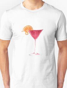 Cosmopolitan Watercolour Cocktail T-Shirt