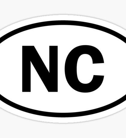 North Carolina - NC - oval sticker and more Sticker