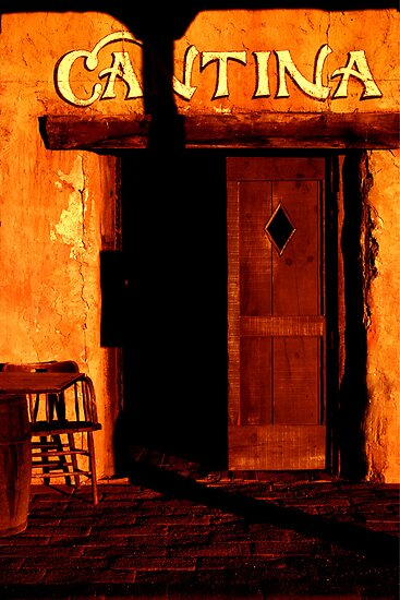 Old West Cantina at sunset by ©  Paul W. Faust