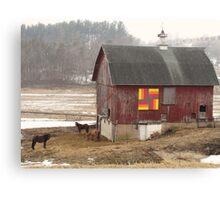 Quilted Horse Barn Canvas Print