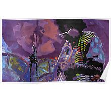 Jazz Miles Davis Violet Poster