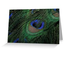 Black, Blue, Brown and Green Greeting Card