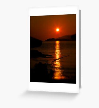 Golden moment - light up life . Bali. Crete. Greece. F*  Views (417) .Awwwwwws !!! Favs (6)  . Hugs thanks ! Greeting Card