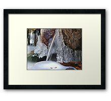 Icy Cascades Framed Print