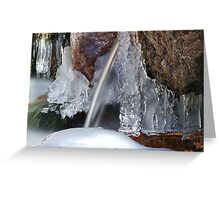 Icy Cascades Greeting Card