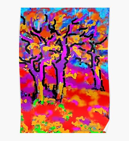 Three Elm Trees Poster