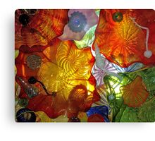 Stain Ceiling Glass Figurines Canvas Print
