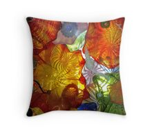 Stain Ceiling Glass Figurines Throw Pillow