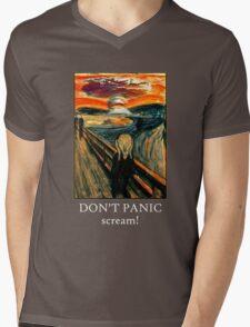 Don't Panic - Scream! Mens V-Neck T-Shirt