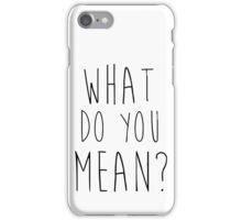 Justin Bieber What Do You Mean iPhone Case/Skin