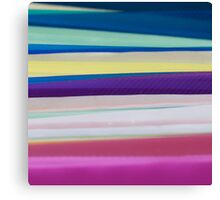 Coloured Folders Canvas Print