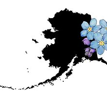 Alaska Silhouette and Flowers by UrsulaRodgers