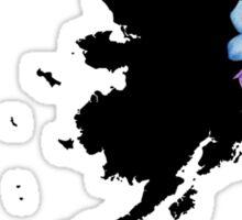Alaska Silhouette and Flowers Sticker