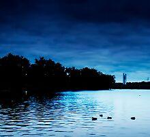 Blue Lake Morning by Mark Braham