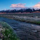 Birch Creek and Mountain Sunrise by Leland Howard