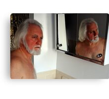 Blue Eyes in the Mirror Canvas Print