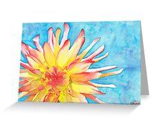 Tie-Dye Dahlia Greeting Card