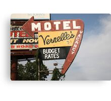 Route 66 - Vernelle's Motel Metal Print