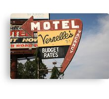 Route 66 - Vernelle's Motel Canvas Print